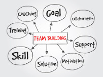 Team Building, business vector concept for presentations